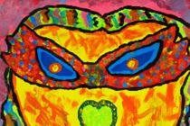 Maskers als Karel Appel